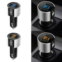 1xHandsfree Wireless Bluetooth Car FM Transmitter Radio USB Charger Kit MP3