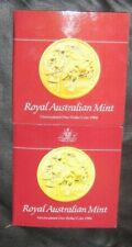 Australia 2 x 1984 Uncirculated 1 Dollar Coins in Folders of Issue Nice