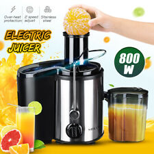 Sokany 800W Inox. Extracteur de Jus Fruits et Légumes Machine à 2 Vitesse Ø 65mm