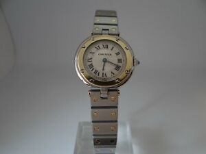 Cartier Santos Ronde Ladies 8191 18k Gold and Stainless Steel Quartz 27mm
