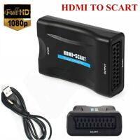 1080P SCART To HDMI Audio Video Converter Adapter for HDTV DVD SKy PS3 Openbox