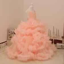 Cloud Puffy Pageant Dresses For Little Girls Vestido Beauty Communion Dress Gown