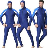 ✅Men Stretch Full Body Wetsuit Surf Swim Surfing Hooded Diving Steamer Wet Suit