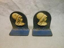 VINTAGE VICTORIAN BOOK ENDS WOMAN  NO. 518 CAST IRON HUBLEY?