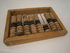 Soviet Counting Frame Vintage Wooden Abacus Beads Russian Market Trader USSR 60s