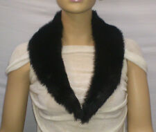 FASHION FAUX FUR COLLAR : PRE CUT AND FULLY LINED :  BLACK : #10262 -