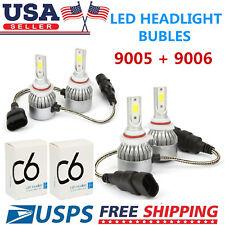 Combo 9005 9006 LED Headlight Bulbs Kit for Honda Accord 1997-2007 High Low Beam