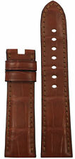 22x20 RIOS1931 for Panatime Cognac Alligator Watch Band MS For Panerai Deploy