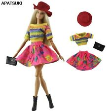 """Colorful Outfits Clothes Set for 11.5"""" Doll Outfits Shirt Skirt Hat Handbag 1/6"""