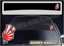 SS5053 JDM Grenade stickerbomb Car sunstrip graphics stickers Fits Nissan Toyota