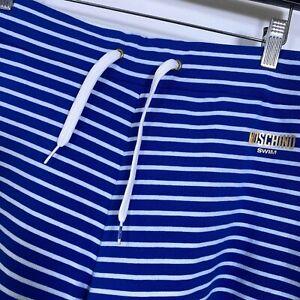 Moschino Swim Men's Striped Swim Shorts Cotton Blend Knit Men's Size 50