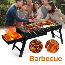 BBQ Barbecue Grill Charcoal Kabob Stove Shish Kebab Outdoor Cooking Folding