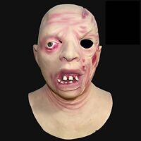 Redneck Inbred Hillbilly Full Head Latex Mask Deluxe Fancy Dress Halloween Jason