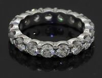 Platinum elegant high fashion 2.72CT VS diamond eternity band ring size 4.25
