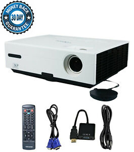 Refurbished Optoma TX735 DLP Projector 2600 Lumens HDMI Adapter HD 1080i bundle