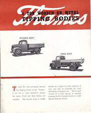 FORD  THAMES TIPPING BODY Brochure