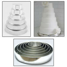 """6 TIER HEAVY DUTY ROUND CHRISTMAS CAKE TINS 6"""" to 16"""""""
