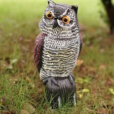 Owl Pest Fake Birds Hunting Decoy Scarer Repeller Garden Decor U0T4