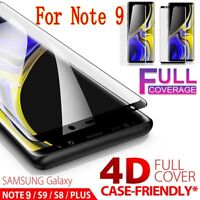 Samsung Galaxy Note 9 Curved 4D Tempered Glass Full Cover Screen Protector Film
