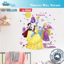 Wall Stickers Disney Princess Girl Removable Kids Girl Room Decal