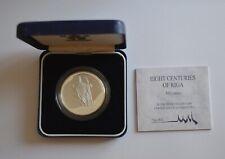 More details for 1995 riga 800 rigas astoni gadsimti silver 10 latu coa