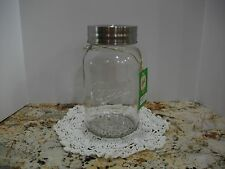 One Gallon Decorative Ball Mason Jar+Lid~Largest Made~Clear Glass~Storage/Crafts