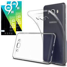 Samsung Galaxy J7 2016 2x Panzerglas Echt Glas FOLIE Schutzfolie + SILIKON HÜLLE