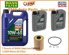 E46 BMW M3 10W60 LIQUI MOLY W/GERMAN MANN OIL FILTER 7 QUARTS E46 M3 OIL KIT