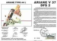 Timbre souvenir philatélique Cosmos Ariane V37 DFS2 lot 14949