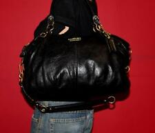 COACH Large Black MADISON Leather SOPHIA Convertible Shoulder Purse Bag #15955
