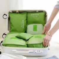 6X Wasserdichte Reise Aufbewahrungstasche Verpackung Cube Gepäck Organizer Pouch