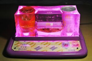 The BTS Mcdonald's Meal COMPLETE PRESERVED Set (w/ Lights in Epoxy Resin & Tray)