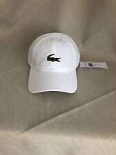 Lacoste Mens Baseball Cap One Size In White
