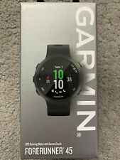 Garmin Forerunner 45 Black - Large 42mm - BRAND NEW IN BOX - 2x Charging Cables