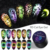 NICOLE DIARY 9D Magnetic Cateye Gel Polish Stamp Gel Nail Stamping Plates Sets