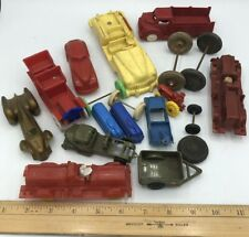 Vintage 50's 60's Plastic National Products Toy Cars~Trucks+Train~Junk Yard Lot