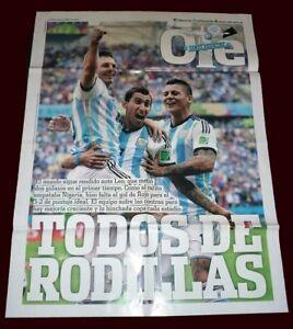 FIFA WORLD CUP 2014 Argentina Vs NIGERIA Poster - MESSI