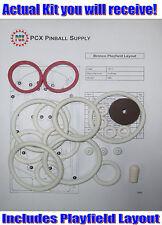 1977 Gottlieb Bronco Pinball Machine Rubber Ring Kit
