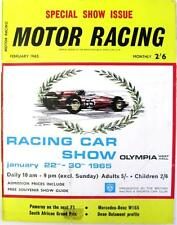 MOTOR RACING Magazine Feb 1965 - Special Show Issue, Mercedes-Benz W165