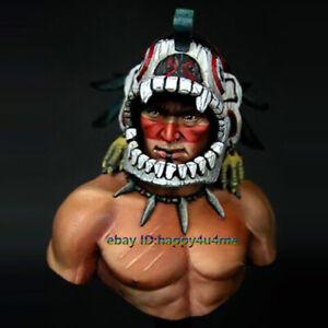 Unassembled 1/10 Ancient Warrior Bust Model Unpainted Garage Kits Statue Resin