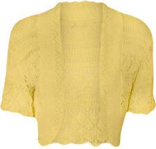 New Women's Crochet Knitted Ladies Bolero Waterfall Cardigan Top Shrug Size 6-14
