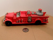 Auburn Red Rubber Fire Truck #2 500 on Back and Front fender Plate area (10840)