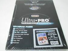 ULTRA PRO PLATINUM 3-POCKET PAGES 7 7/8 x 3 5/8 SHEETS PROTECTORS NEW IN BOX
