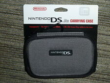 NINTENDO DS LITE OFFICIAL CONSOLE CARRY CASE BRAND NEW! Genuine Zip Holder Grey