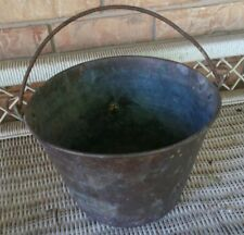 Antique American Brass Kettle Cauldron Pot Bucket Vintage