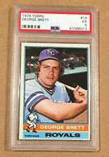 1976 TOPPS #19 GEORGE BRETT ROYALS HOF 2nd Year PSA 5 EX From Vending