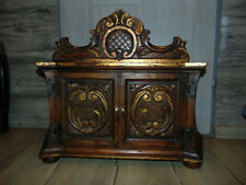 Wooden carved cabinet, vintage from the age of 40