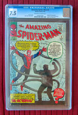 AMAZING SPIDER-MAN #3 CGC 7.5! N.R. 1ST DOCTOR OCTOPUS!  MOVIE SOON!  OW-WHITE!