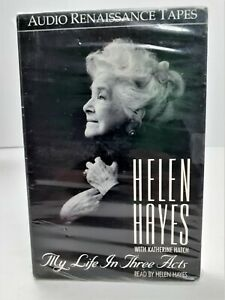 Helen Hayes My Life in Three Acts 1990 Audiobook Cassettes Katherine Hatch NEW