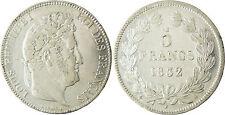 LOUIS  PHILIPPE  5  FRANCS  ARGENT  LAURÉE  1832  A  PARIS  ,  QUALITÉ